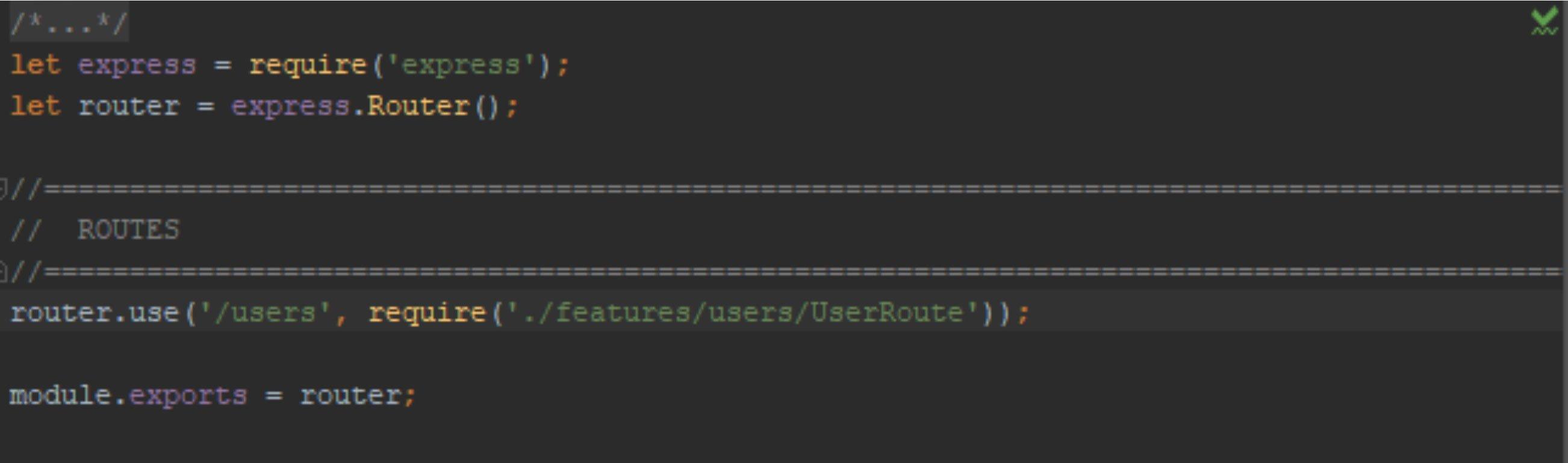 UserRoute file