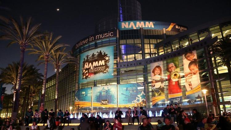 The 119th edition of the NAMM Show will take place Thursday through next Sunday at the Anaheim Convention Center. Last year's NAMM Show drew a record 115,000-plus attendees to the members-only confab. (Photo by Jesse Grant / Getty Images for NAMM)