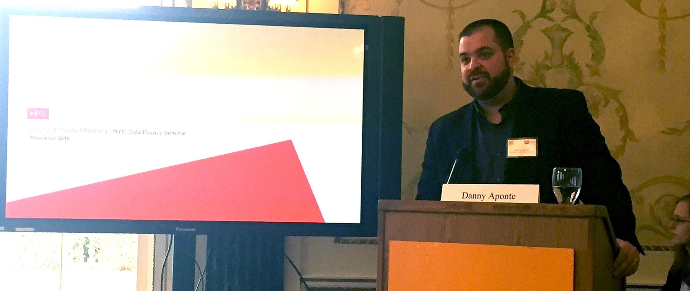 Danny Aponte Speaks at Global Privacy Laws Seminar